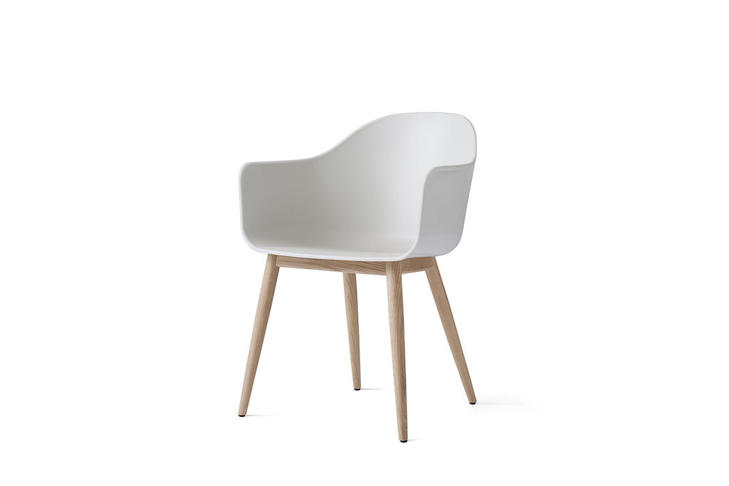 MENU Harbour Chair Light Grey with Oak Side View | Chairs & Furniture | Bibliotek