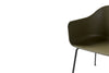 MENU Harbour Chair Olive with Steel Close Up | Chairs & Furniture | Bibliotek