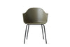 MENU Harbour Chair Olive with Steel | Chairs & Furniture | Bibliotek
