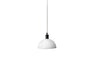 MENU Hubert Pendant, Ø24 - Ivory & Bronzed Brass | Pendant Lamps & Lighting | Bibliotek Design