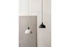 MENU Hubert Pendant, Ø24 - Black & Ivory | Pendant Lamps & Lighting | Bibliotek Design