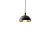 MENU Hubert Pendant, Ø24 - Black & Bronzed Brass (Lighted) | Pendant Lamps & Lighting | Bibliotek Design