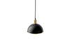 MENU Hubert Pendant, Ø24 - Black & Bronzed Brass (Back) | Pendant Lamps & Lighting | Bibliotek Design