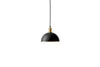 MENU Hubert Pendant, Ø24 - Black & Bronzed Brass (Lamp) | Pendant Lamps & Lighting | Bibliotek Design