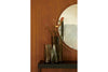 MENU Nimbus Mirror Brass with Aer Vase | Wall Mirrors & Furniture | Bibliotek