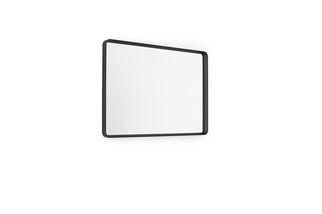 MENU Norm Rectangular Wall Mirror Black Horizontal | Wall Mirrors & Furniture | Bibliotek