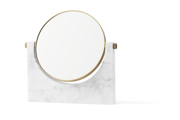 MENU Pepe Marble Mirror White | Wall Mirrors & Furniture | Bibliotek