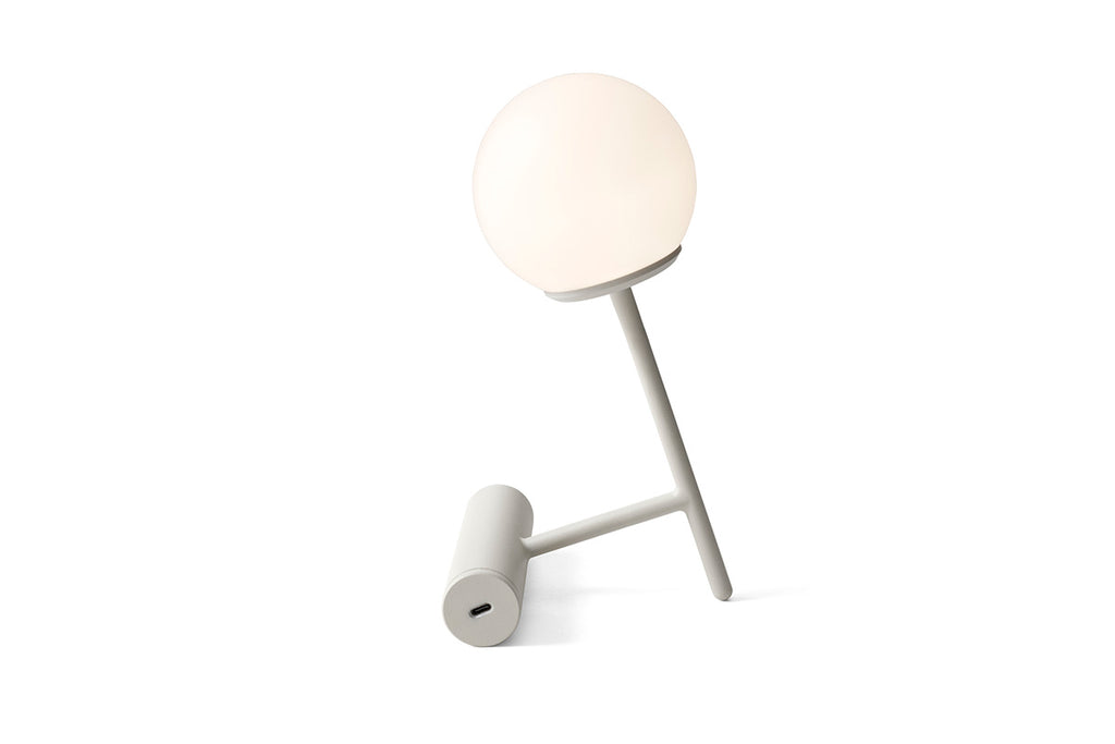 MENU Phare LED Lamp, Light Grey | Desk & Table Lamp | Bibliotek Design