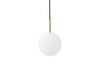 MENU TR Pendant Lamp - Brushed Brass & Matt Opal | Pendant Lamps & Lighting | Bibliotek Design