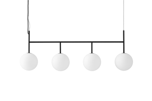 MENU TR Suspension Frame - Black & Matt Opal | Pendant & Ceiling Lighting | Bibliotek