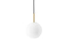 MENU TR Pendant Lamp - Brushed Brass & Shiny Opal | Pendant Lamps & Lighting | Bibliotek Design