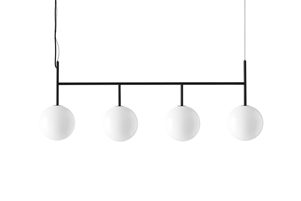 MENU TR Suspension Frame - Black & Shiny Opal | Pendant & Ceiling Lighting | Bibliotek