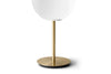 MENU TR Table Lamp - Brushed Brass & Shiny Opal (Close Up) | Desk & Table Lighting | Bibliotek Singapore
