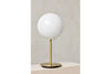 MENU TR Table Lamp - Brushed Brass & Shiny Opal (Lifestyle) | Desk & Table Lighting | Bibliotek Singapore