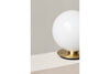 MENU TR Table Wall Lamp - Brushed Brass & Shiny Opal | Wall & Table Lighting | Bibliotek Design