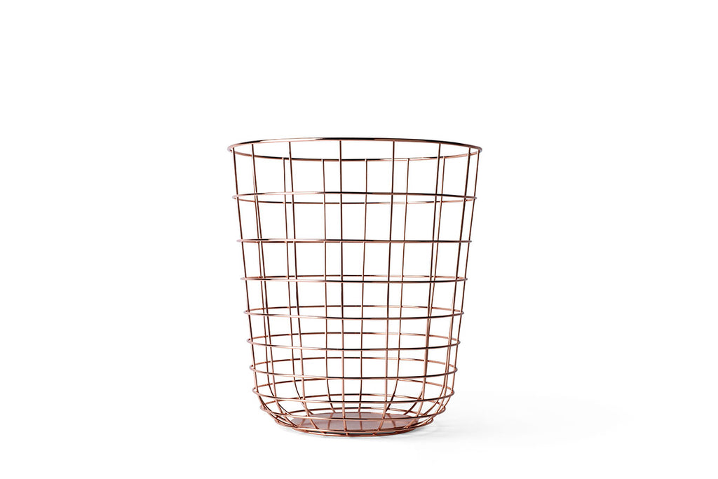 MENU Wire Bin, Copper | Bowls & Baskets | Bibliotek