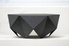 Monolith: Lounge Side Table, Matt Black, Melvin Ong, Bibliotek Design Store