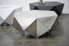 Monolith: Lounge Side Table, Brushed Metal, Melvin Ong, Bibliotek Design Store