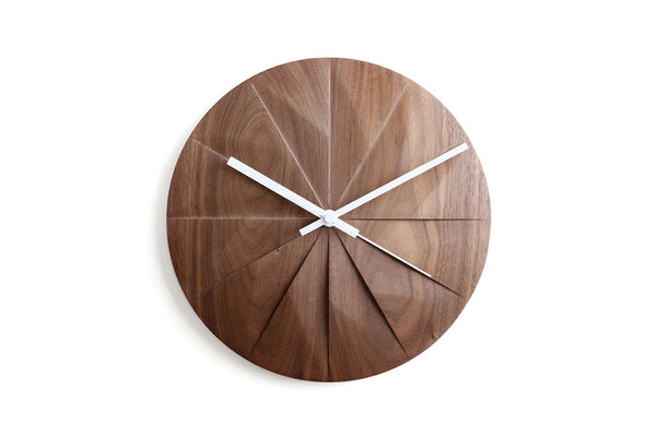 Pana Objects Shady Wall Clock Walnut | Wall Clocks Online | Bibliotek