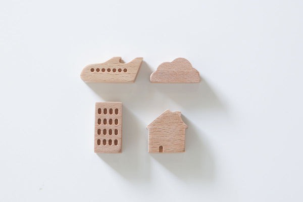Pana Objects Small Ville (Town) Magnet Set | Stationery | Bibliotek