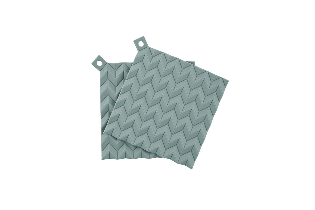 RIG TIG HOLD-ON Pot Holders 2pc Dusty Green | Kitchen Linen & Textile | Bibliotek