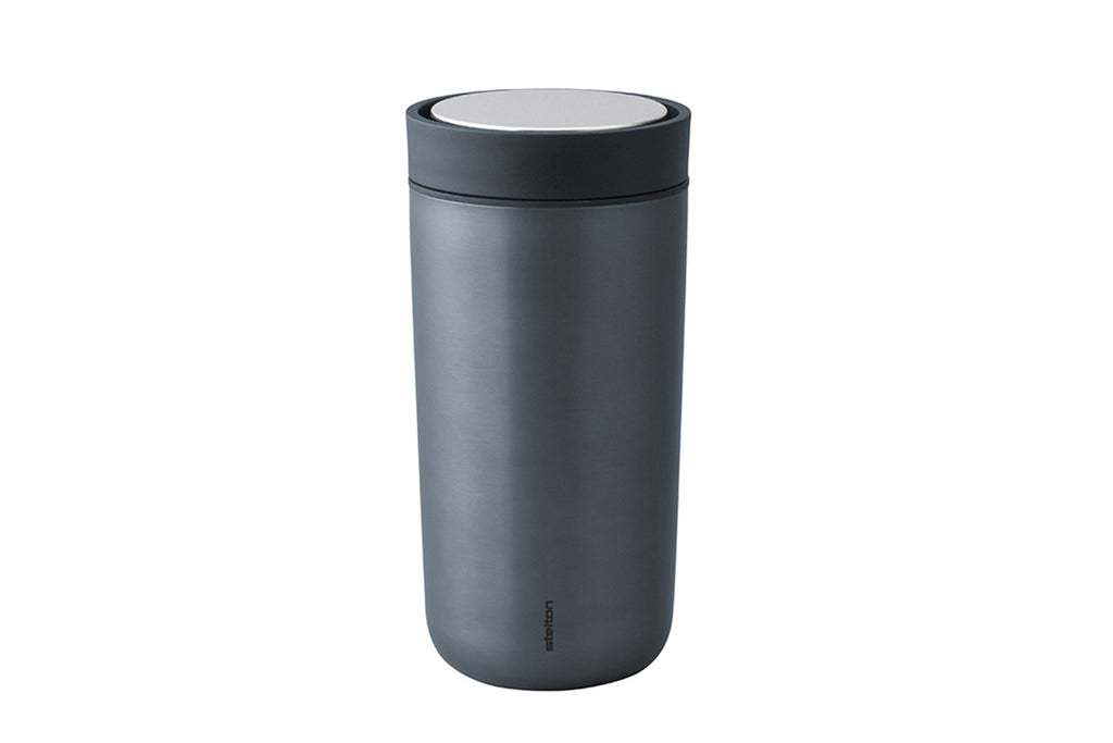 Stelton To Go Click Cup, Dark Blue Metallic | Drinkware | Bibliotek