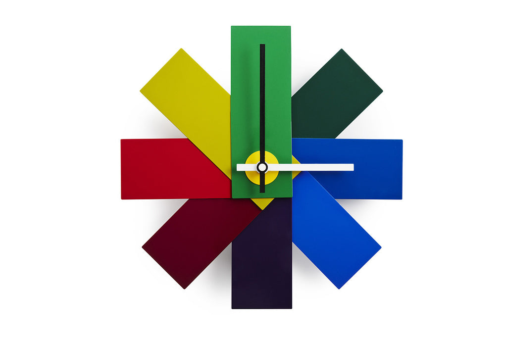 Watch Me Wall Clock, Multi, Rasmus Gottliebsen, Bibliotek Design Store