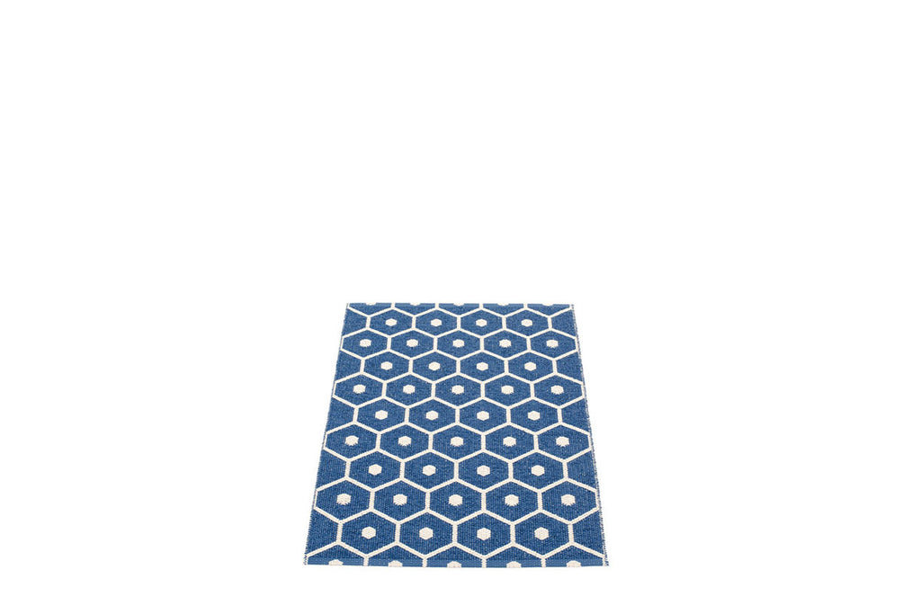 Pappelina Honey Rug Denim | Swedish Plastic Rugs | Bibliotek Design