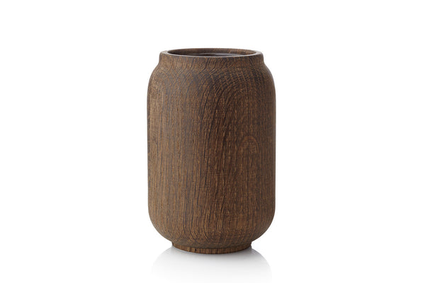 POPPY Vase, Stained Oak, Anders Nørgaard, Bibliotek Design Store