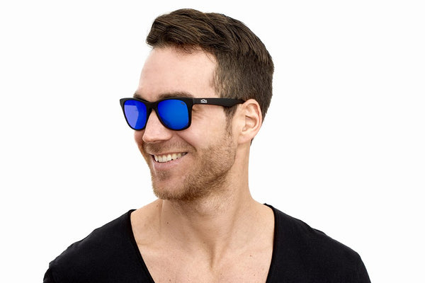 SURF FRAME: Black Matte | LENSE: Blue light mirror effect