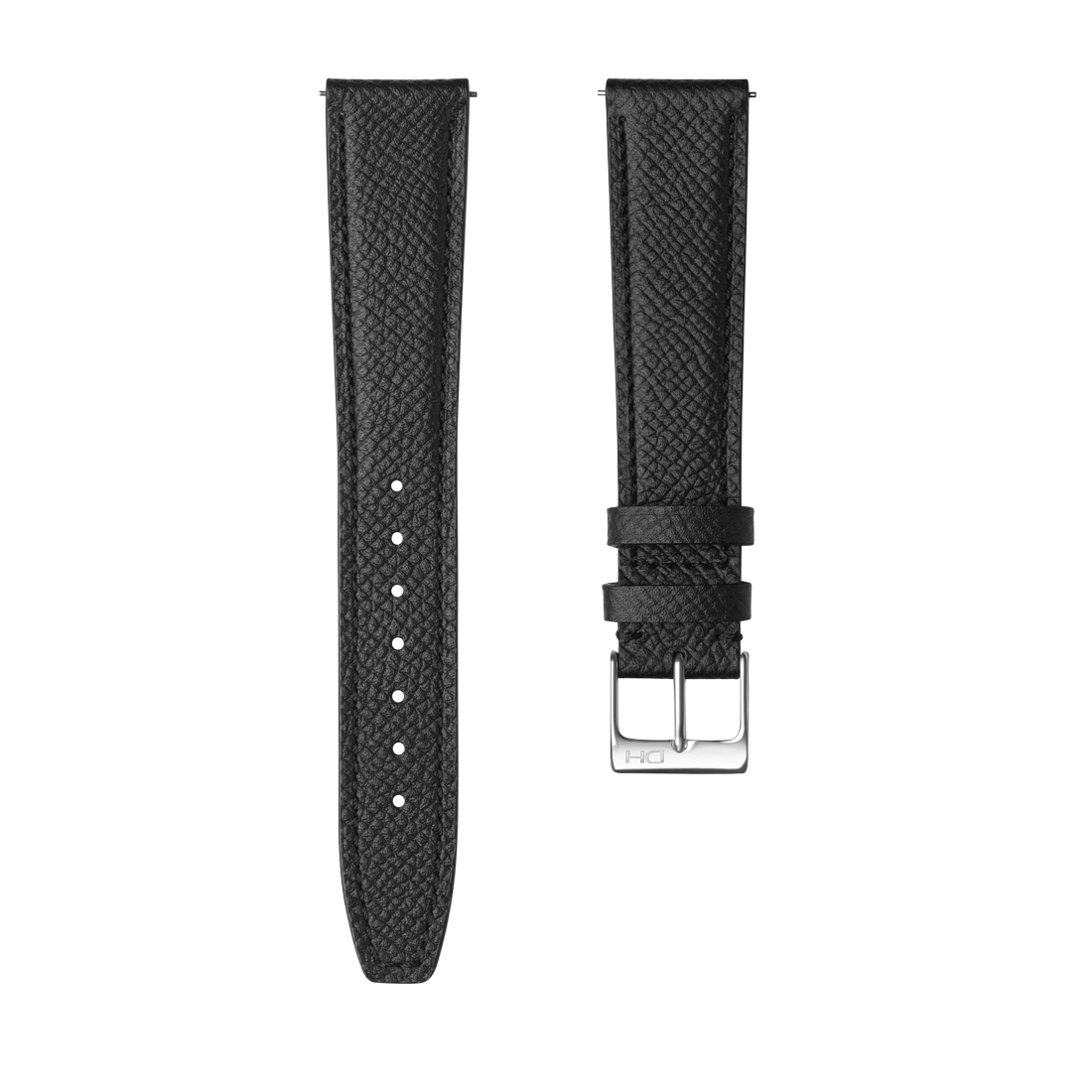 <h3>Leather Strap</h3> 1964 black leather strap with <br><span>Easy Release Strap</span>