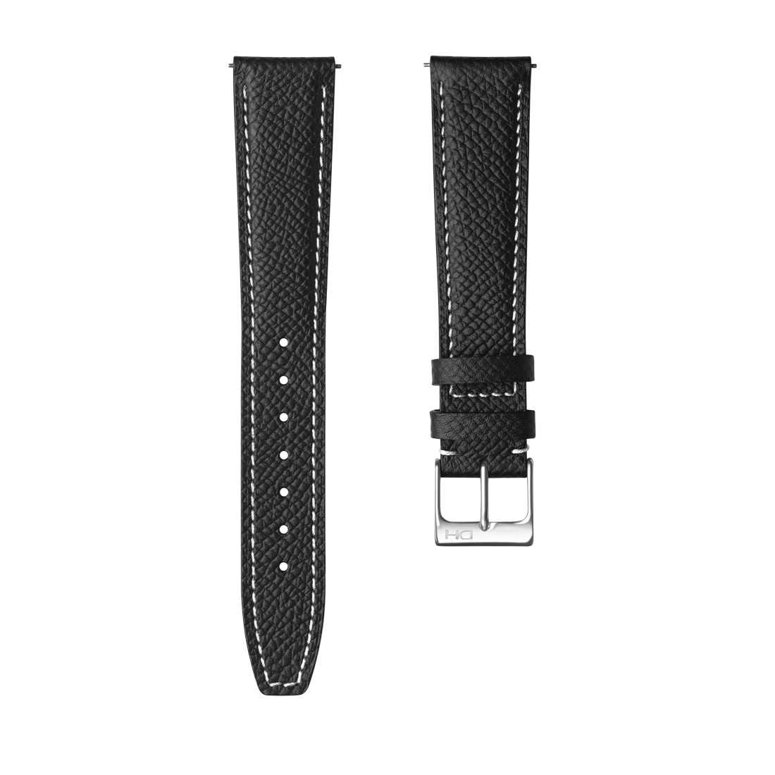 <h3>Leather Strap</h3> 1964 black leather strap with white stitch<br><span>Easy Release Strap</span>