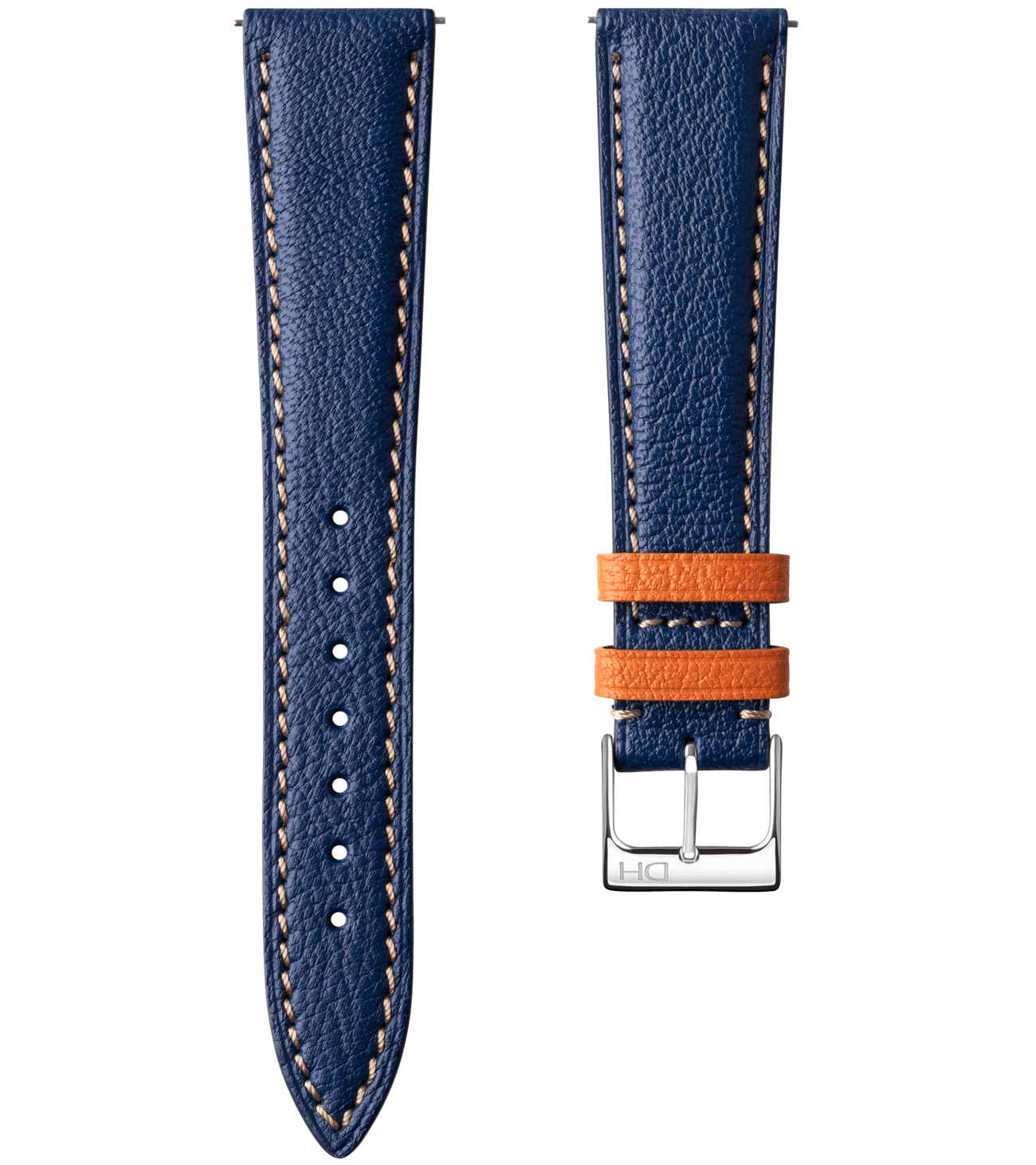 <h3>Leather Strap</h3> 1962 blue leather strap<br><span>Easy Release Strap</span>