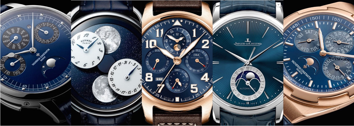 blue dial moon phase