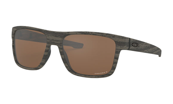 Oakley Crossrange Sunglasses 009361-2757 Woodgrain Prizm Tungsten Polarized