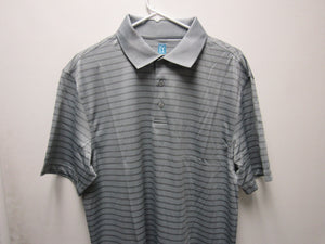 Mens PGA TOUR Solid Patterned Polo Airfluix Light Grey Size Medium M