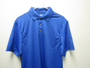 Mens PGA TOUR Solid Patterned Polo Airfluix  Classic Blue Size Medium M