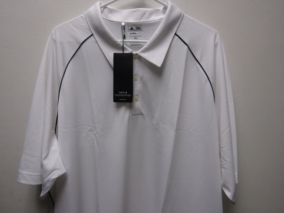 Mens Adidas Climalite White Golf Shirt A82 Size 3XL XXXL