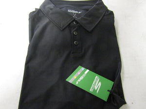 Mens Skechers Solid Pine Valley Polo Black Golf Shirt Size XL