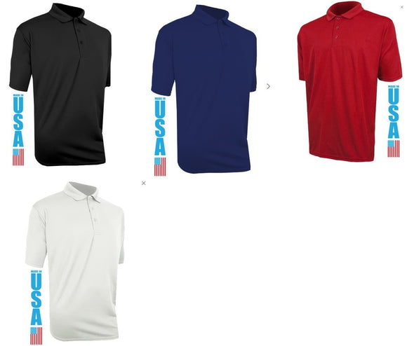 Polarmax Dry Tech Silk Moisture Wicking Men's Polo Shirt Choose Size and Color