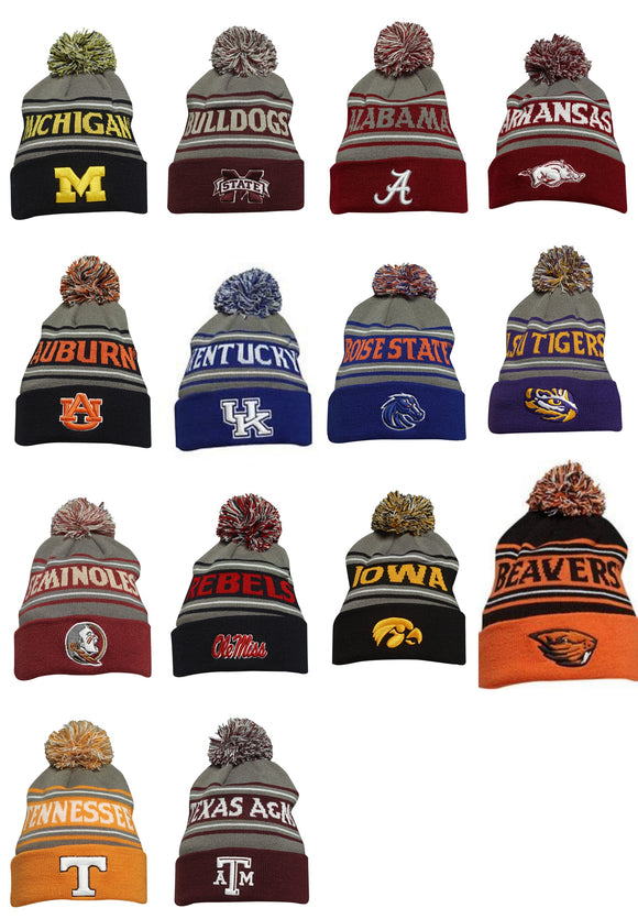Bridgestone Golf NCAA Winter Cap BEANIE Toboggan PICK YOUR TEAM