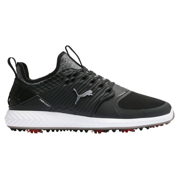 Cobra Puma Ignite PWRADAPT Caged Golf shoes 192223 02 Black Silver Sizes