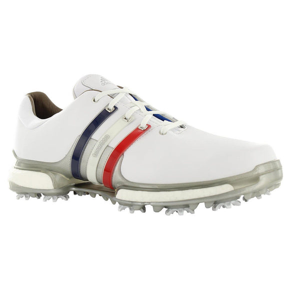 Adidas Tour 360 2.0 Golf Shoes White Scarlet Silver Metallic AQ0630 Choose Size