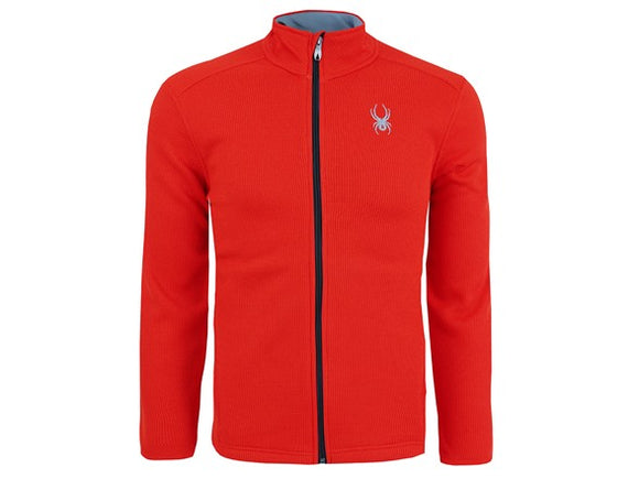 Spyder Men's Full Zip Waffle Knit Jacket RED Choose You Size