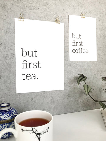 Tea and coffee print - 5 ways to hang your prints without frames by Made by Aiza