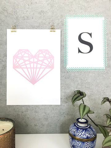 Hang art with bulldog clips - 5 ways to hang your prints without frames by Made by Aiza