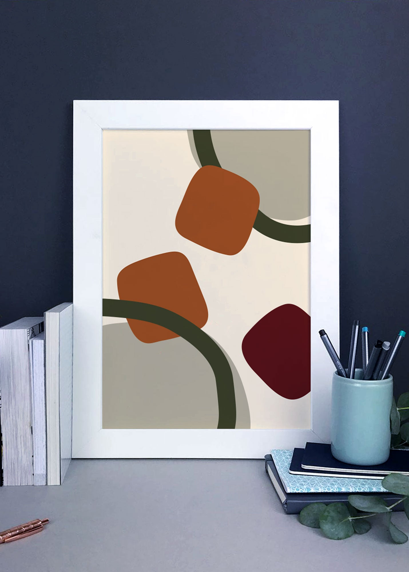 Hot chocolate inspired abstract wall art