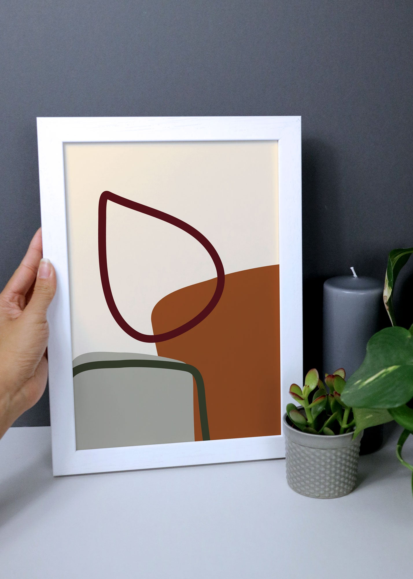 Cosy fireplace abstract wall art