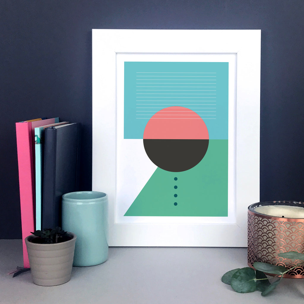 Geometric shapes print – circles, lines and dots