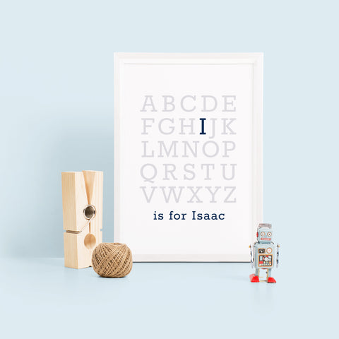Alphabet Baby Name Typography Print